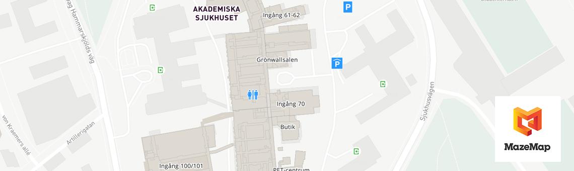 Mazemap Karta Over Sjukhusomradet Akademiska